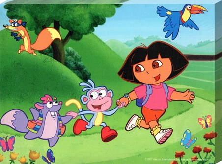 Framed Dora, Boots and Tico Off On An Adventure! - Dora the Explorer