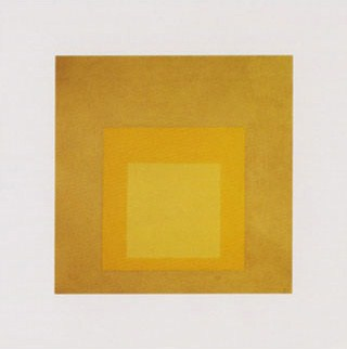 Yellow Climate... (Homage to the Square) - Josef Albers
