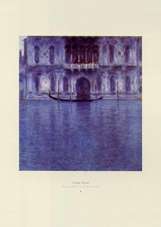Framed The Count's Palace - Palazzo Contarini - Claude Monet