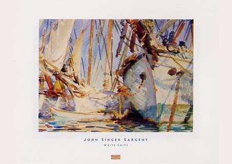 Framed White Ships - John Singer Sargent