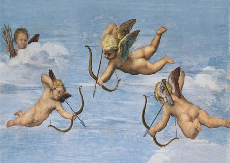 The Nymph Galathea (detail with Cherubs), 1512-14 - Raphael