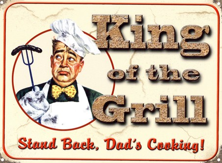 Framed Stand Back, Dad's Cooking - King of the Grill