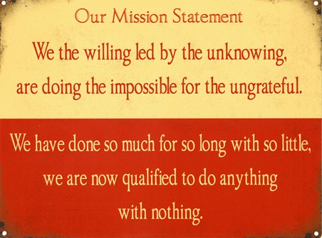 Framed We The Willing... - Our Mission Statement