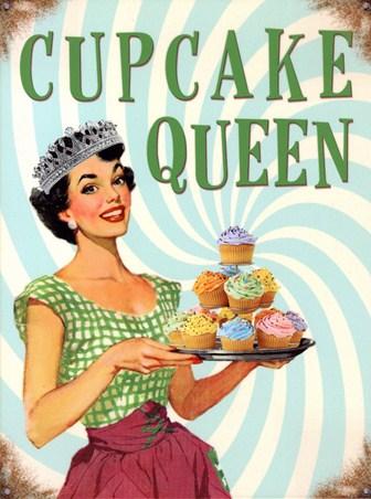Framed Cupcake Queen - Kitchen Kitsch