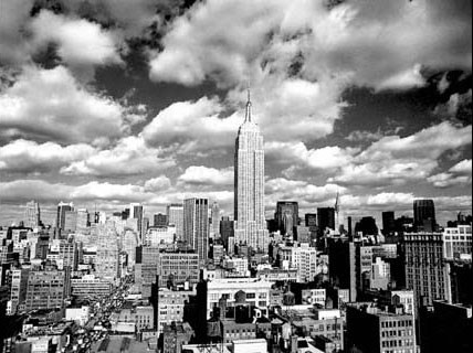 Clouds Over Manhattan, New York City - Henri Silberman