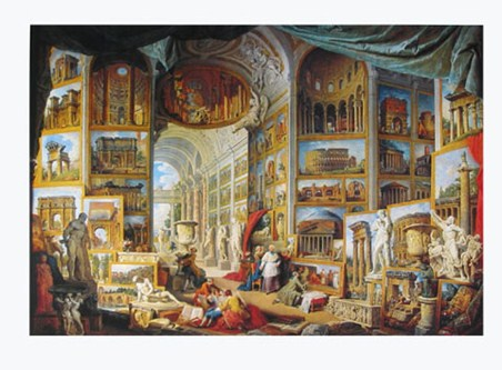 Galerie Des Vues De La Rome Antique, 1755 - Giovanni Paolo Pannini