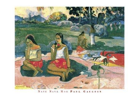 Nave Nave Moe (Sacred Spring) - Eugène Henri Paul Gauguin