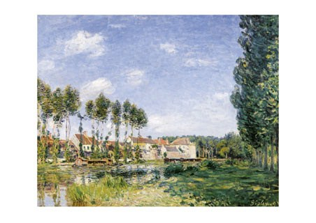 Moret, On the Banks of the  Loing - Alfred Sisley