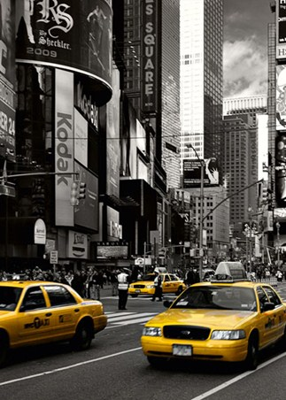 New York City Wall Mural the vibrancy of times square, new york city wall mural - buy online