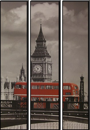 Driving Past Big Ben Trio - London Red Bus