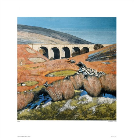 Yorkshire Landscape with Viaduct - Lydia Bauman