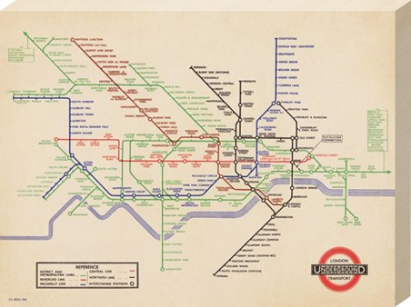 Vintage London Underground Map, 1936 - London Transport
