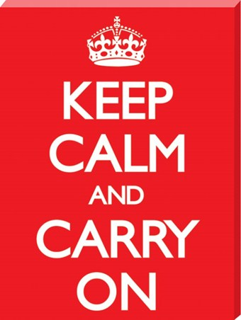 Keep Calm and Carry On - Simple Motivation