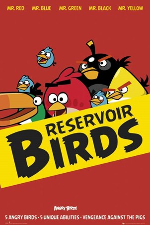 Framed Reservoir Birds - Angry Birds
