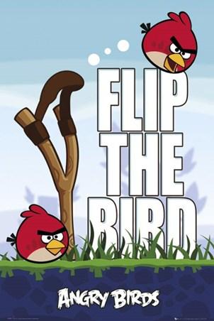Framed Flip the Bird - Angry Birds