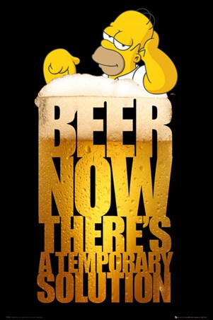 Beer; A Temporary Solution - Homer Simpson