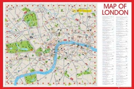 London Here We Come! - Map of England's Capital