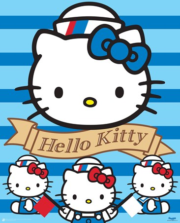 Framed Ahoy There! - Hello Kitty