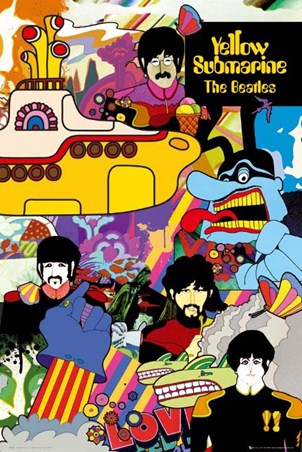 Yellow Submarine, The Beatles Poster
