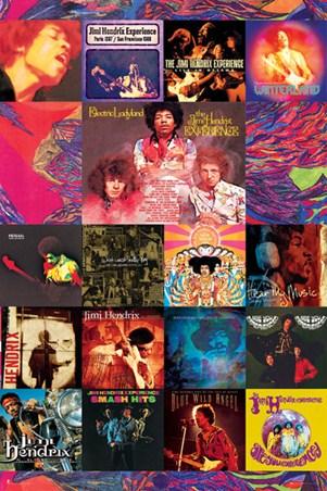 Album Cover Collage Jimi Hendrix Poster Popartuk