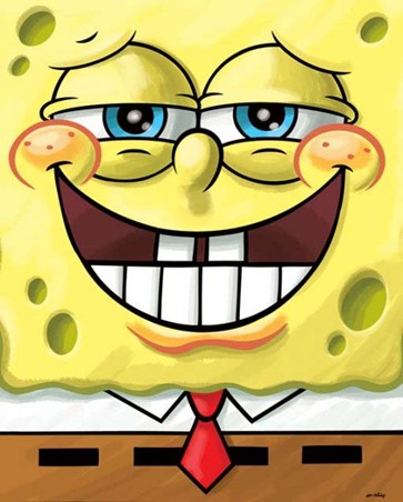 Framed Cheeky Grin - Spongebob Squarepants