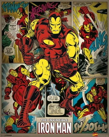 Framed Hero To The Rescue - The Invincible Iron Man