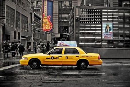 Cab on 7th Avenue - New York City