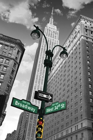 Broadway and West 34th Street - New York City Street Sign