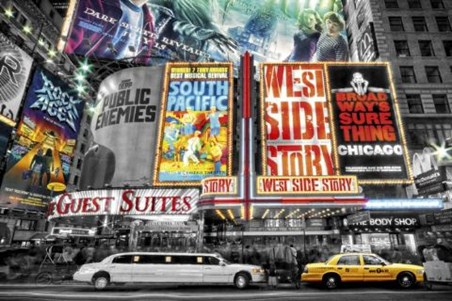 On Broadway - The Theatre Signs of New York City