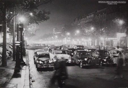 Avenue des Champs-Elysees - Paris 1950