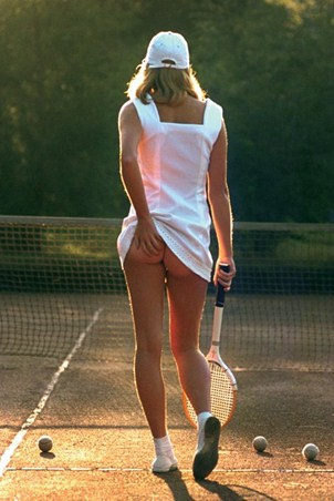 Framed Tennis Girl - Martin Elliot