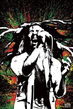 Rasta Splatter - Bob Marley