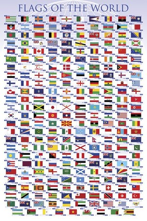 Flags of the World - Educational Chart