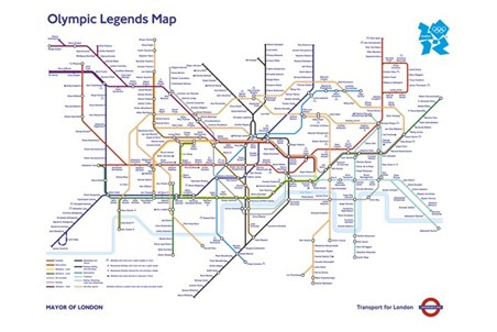 Olympic Legends Map - London Underground