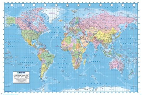 Political World Map, Map of the World Poster - Buy Online