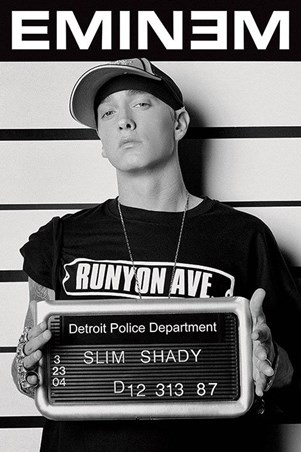 Framed Slim Shady Mugshot - Eminem