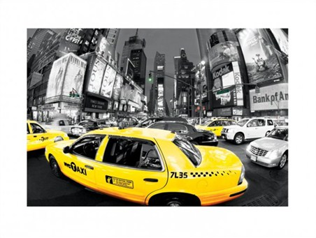 Framed Rush Hour in Times Square - New York City