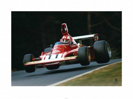 Clay Regazzoni Jump 1974 - Ferrari F1