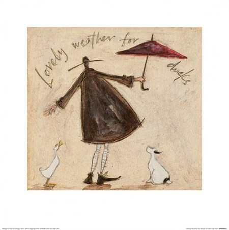 Framed Lovely Weather for Ducks - Sam Toft