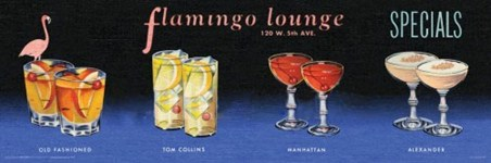 Flamingo Lounge, Cocktails All Around!