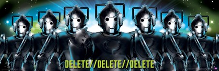 Delete, Delete, Delete - Doctor Who Cybermen