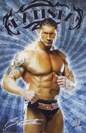 Framed Batista - WWE
