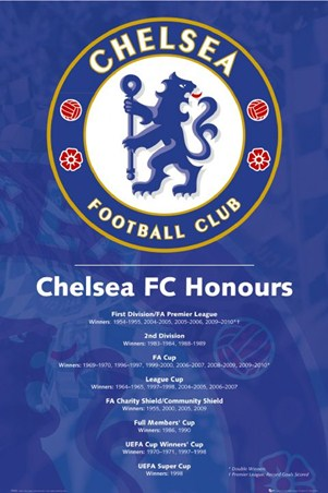 Chelsea FC Honours - Premiership Football