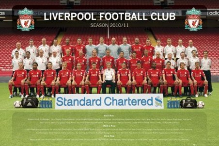 Team Photo 2010/11 - Liverpool FC