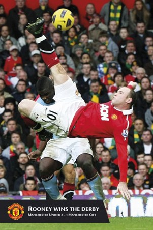 Rooney Wins the Derby - Manchester United FC