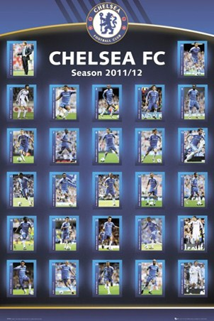 Squad Profiles 2011 12 Chelsea Football Club Poster Buy
