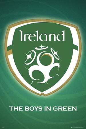 The Boys in Green - Ireland Football Team Logo