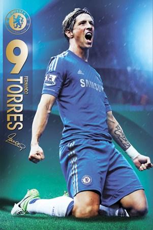 Fernando Torres, Chelsea Football Club Poster - PopArtUK