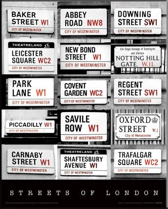 Street Signs of London - London, England