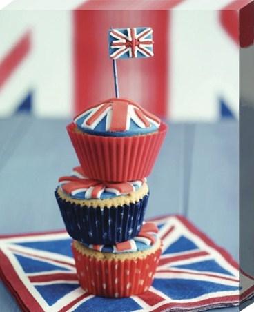 Framed Union Jack Cupcake Stack - Howard Shooter